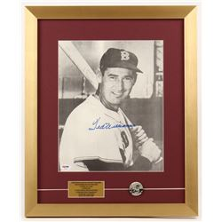Ted Williams Signed Boston Red Sox 16x19.5 Custom Framed Photo Display with Williams Original 1950's