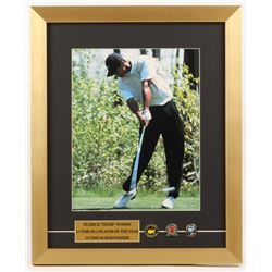 Tiger Woods 15.5x19 Custom Framed Photo Display with (3) Ball Markers