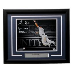 "Aaron Hicks Signed New York Yankees 16x20 Custom Framed Photo Display Inscribed ""GW Catch 7/23/19"" ("