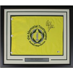 Phil Mickelson Signed The Memorial Tournament 21x27 Custom Framed Pin Flag Display (Beckett COA)