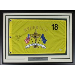 Phil Mickelson Signed Ryder Cup 22x30 Custom Framed Pin Flag Display (Beckett COA)