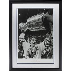 "Wayne Gretzky LE ""The Cup"" 21x28 Custom Framed Hulton Archive Giclee Display (PCV COA)"
