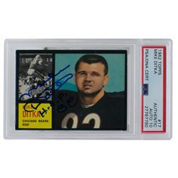 Mike Ditka Signed 1962 Topps #17 RC (PSA Encapsulated)