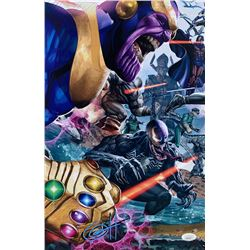 """Greg Horn Signed """"Secret Wars: Villains"""" 11x17 Lithograph (JSA COA)"""