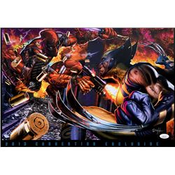 "Greg Horn Signed ""Deadpool vs Wolverine"" 13x19 Lithograph (JSA COA)"