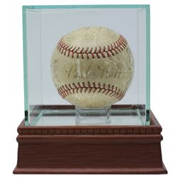 Babe Ruth, Lou Gehrig Signed 1934 Tour of Japan OAL Baseball with High-Quality Display Case Signed b
