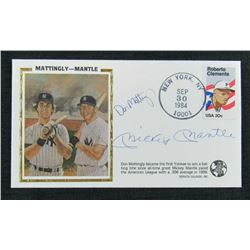 Mickey Mantle  Don Mattingly Signed New York Yankees 1984 Event Cover Cachet (JSA LOA)