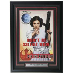 "Greg Horn Signed ""Star Wars: Princess Leia"" 20x26 Custom Framed Lithograph Display (JSA COA)"