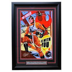 """Greg Horn Signed """"Star Wars: Luke Skywalker"""" 20x26 Custom Framed Lithograph Display (JSA COA)"""
