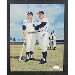 Mickey Mantle  Ralph Houk Signed New York Yankees 8x10 Photo (JSA LOA)