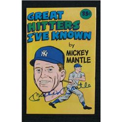 """Mickey Mantle Signed 1976 """"Great Hitters I've Known"""" Booklet (JSA LOA)"""