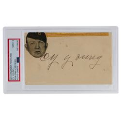 Cy Young Signed 1951 Government Postcard (PSA Encapsulated  JSA LOA)