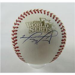 David Ortiz Signed 2013 World Series Baseball (MLB Hologram  Fanatics Hologram)