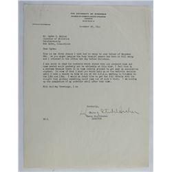 Harry Stuhldreher Signed Letter (JSA LOA)