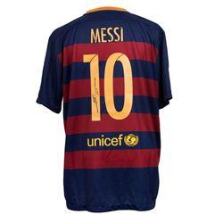"Lionel Messi Signed Barcelona Nike Jersey Inscribed ""Leo"" (Messi COA)"