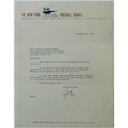 Jack Mara Signed Letter (JSA LOA)
