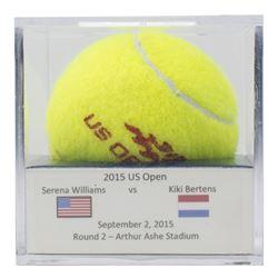 Serena Williams vs. Kiki Bertens Match-Used 2015 U.S. Open Wilson Tennis Ball (MelGray LOA)