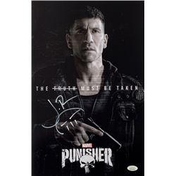 "Jon Bernthal Signed ""Punisher"" 11x17 Photo with Hand-Drawn Sketch (JSA COA)"