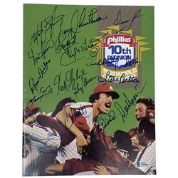 1980 Philadelphia Phillies World Champions 10th Reunion Program Signed by (16) with Mike Schmidt, St