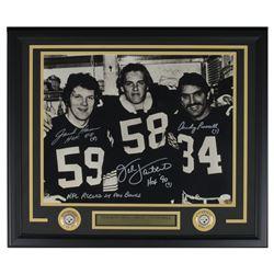Jack Ham, Jack Lambert  Andy Russell Signed Pittsburgh Steelers 22x27 Custom Framed Photo Display wi