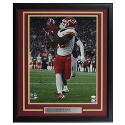 Tyreek Hill Signed Kansas City Chiefs 22x27 Custom Framed Photo Display (JSA COA)