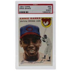 1954 Topps #94 Ernie Banks RC (PSA 3) (MC)
