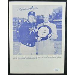 Mickey Mantle Signed New York Yankees 8x11 Photo (JSA LOA)