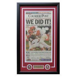 2008 Philadelphia Phillies 18x28 Custom Framed Newspaper Display