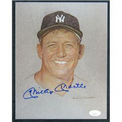 Mickey Mantle Signed New York Yankees 8x10 Print (JSA LOA)