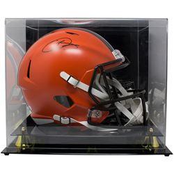 Odell Beckham Jr. Signed Cleveland Browns Full-Size Speed Helmet with Display Case (JSA COA)