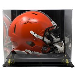 Odell Beckham Jr. Signed Cleveland Browns Full-Size Authentic On-Field Speed Helmet with Display Cas