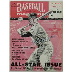 Mickey Mantle Signed 1956 The Original Baseball Magazine (JSA LOA)