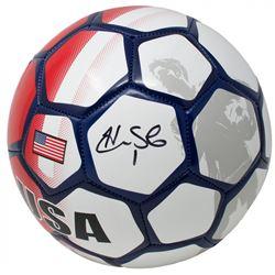 Hope Solo Signed Team USA Select Soccer Ball (JSA COA)