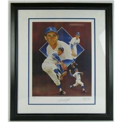 Sandy Koufax Signed LE Los Angeles Dodgers 18x24 Custom Framed Lithograph Display (JSA LOA)