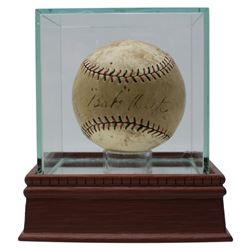Babe Ruth  Christy Walsh Signed Baseball with High-Quality Display Case (PSA LOA)