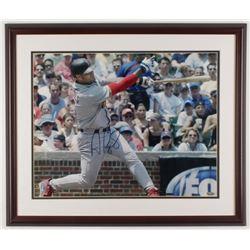 Albert Pujols Signed St. Louis Cardinals 22x26 Custom Framed Photo Display (Steiner Hologram)