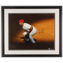 Albert Pujols Signed St. Louis Cardinals 22x26 Custom Framed Photo Display (Steiner COA)