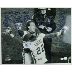 1986 New York Mets 16x20 Photo Team-Signed by (35) with Darryl Strawberry, Mel Stottlemyre, Gary Car