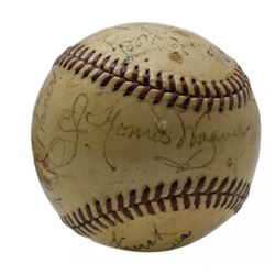 1940 Pittsburgh Pirates Baseball Team-Signed by (27) with Honus Wagner, Frank Frisch, Arky Vaughan,