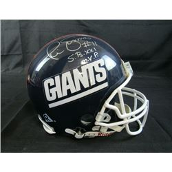 """Phil Simms Signed New York Giants Full-Size Authentic On-Field Helmet Inscribed """"SB XXI MVP"""" (Steine"""