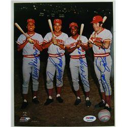 "1970's Cincinnati Reds ""Big Red Machine"" 8x10 Photo Team-Signed by (4) with Tony Perez, Johnny Bench"