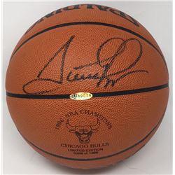 Scottie Pippen Signed 1996 Championship LE Basketball (UDA COA)