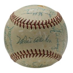 1956 Brooklyn Dodgers ONL Baseball Signed by (22) with Jim Gilliam, Sal Maglie, Jackie Robinson, Roy