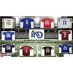 In Demand Autographs Futures Football Jersey Mystery Box #/100