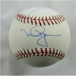 Mark McGwire  Sammy Sosa Signed OML Baseball (Beckett COA, MLB Hologram,  Steiner COA)