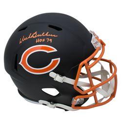 """Dick Butkus Signed Chicago Bears Matte Black Full-Size Speed Helmet Inscribed """"HOF 79"""" (JSA COA)"""