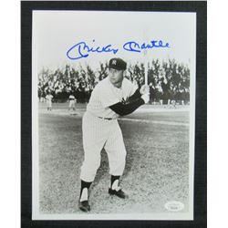 Mickey Mantle Signed New York Yankees 8x10 Photo (JSA LOA)