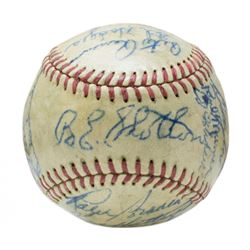 1948 Brooklyn Dodgers ONL Baseball Team-Signed by (22) with Duke Snider, Pee Wee Reese, Roy Campanel