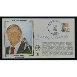 Mickey Mantle Signed New York Yankees 1985 Event Cover Cachet (JSA LOA)