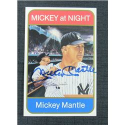 Mickey Mantle Signed New York Yankees 4x6 Postcard (JSA LOA)